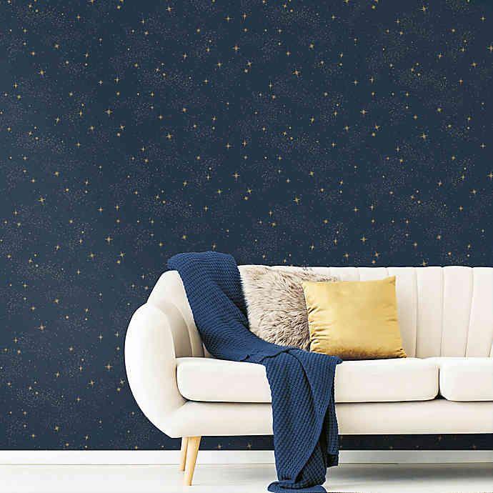 Roommates Upon A Star Peel Stick Wallpaper Buybuy Baby Peel And Stick Wallpaper Room Visualizer Office Wallpaper