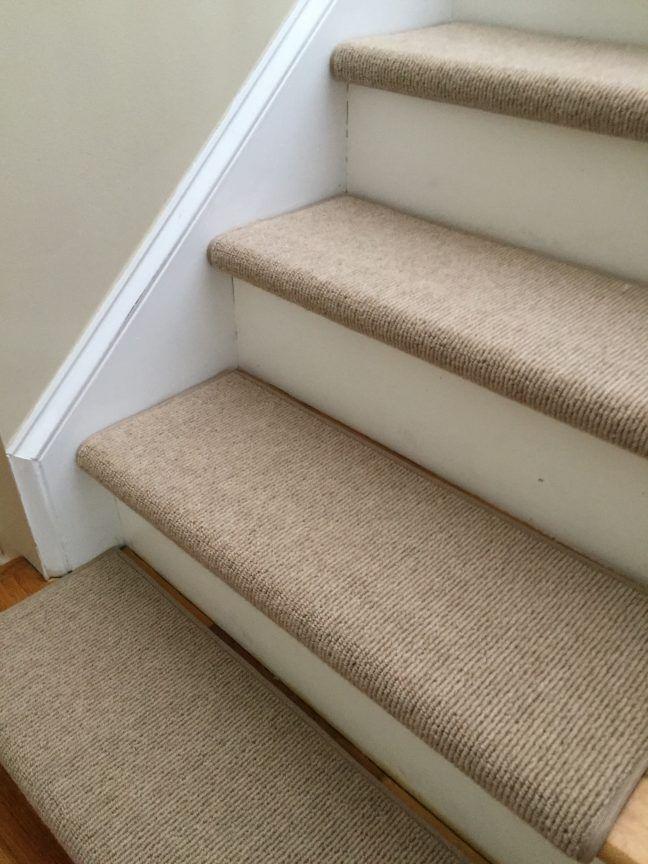 True Bullnose™ Carpet Treads Easy Diy Stair Upgrade Carpet | Grey Carpet Treads For Stairs | Wool Carpet | Indoor Outdoor | Skid Resistant | Custom Stair | Rugs
