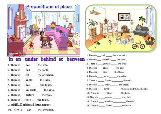 prepositions of place worksheet free esl printable worksheets made by teachers school. Black Bedroom Furniture Sets. Home Design Ideas