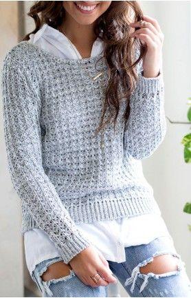 Luella Knit Jumper Grey #BBFEST #beginningboutique