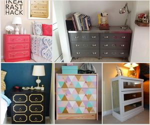 If you love having extra storage and don't want to spend much on furniture, you can't go wrong with the IKEA Rast hacks. Paint it in your chosen color or add some golden drawer pulls for extra style, you can elevate your rooms from drab with reasonably price.