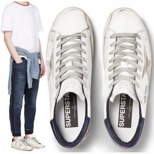 Golden Goose Men LowTop Superstar White Black Cream Metal Lettering G31MS590 W55 #GoldenGoose #FashionSneakers
