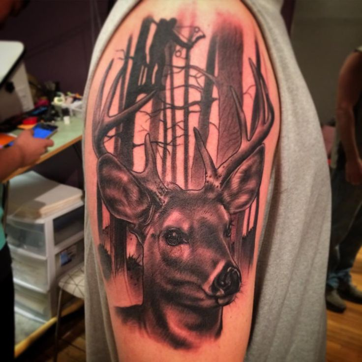 1000 ideas about deer hunting tattoos on pinterest hunting tattoos bow hunting tattoos and. Black Bedroom Furniture Sets. Home Design Ideas