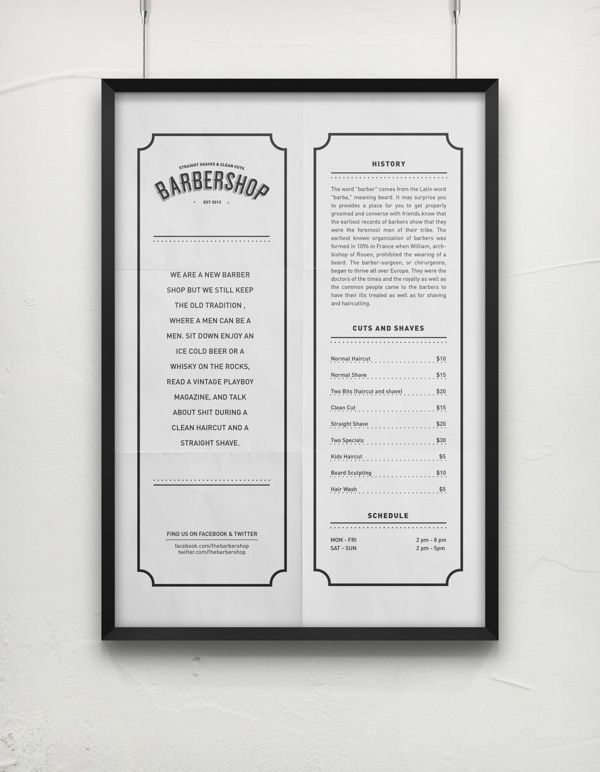 The Barbershop by Vizinno , via Behance #design #branding #creativity #barbershop