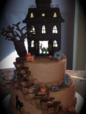 http://www.cakecentral.com/blog/37799/top-haunted-house-cakes?utm_source=CakeCentralNewsletter