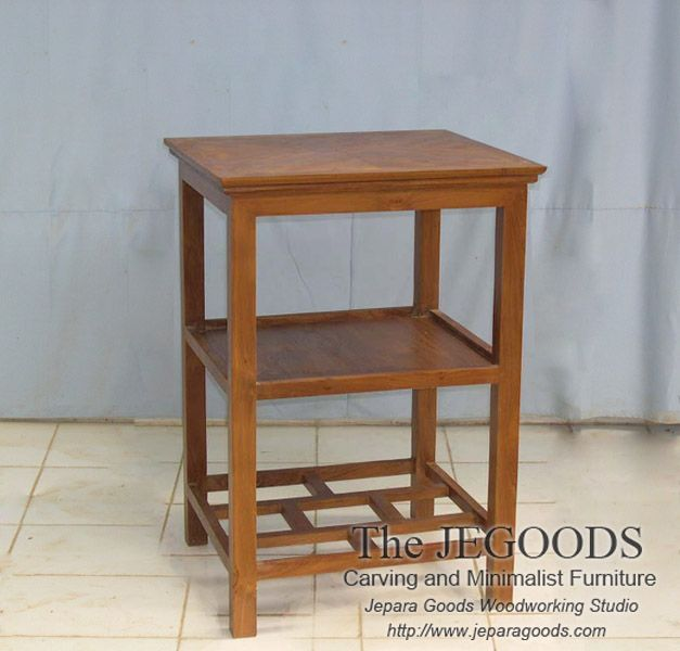 We produce minimalist side table furniture made of solid teak wood. Best traditional #handmade craftsmanship with high quality at affordable price. #teakfurniture #sidetable #furniturefactory #furniturewarehouse #teaktable #indonesiafurniture