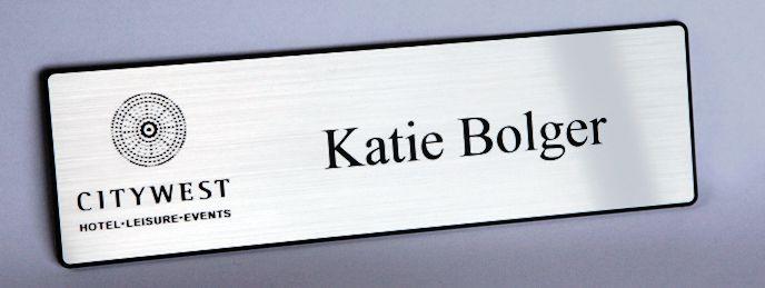 laser engraved name badges, hotel badges, delegate badges, Ireland,