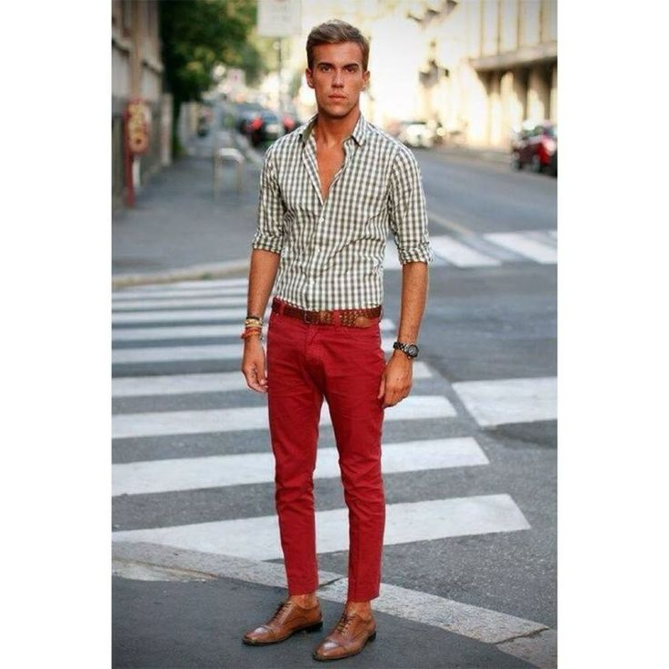 Looking for some color? For a pop of color, wear red pants ...