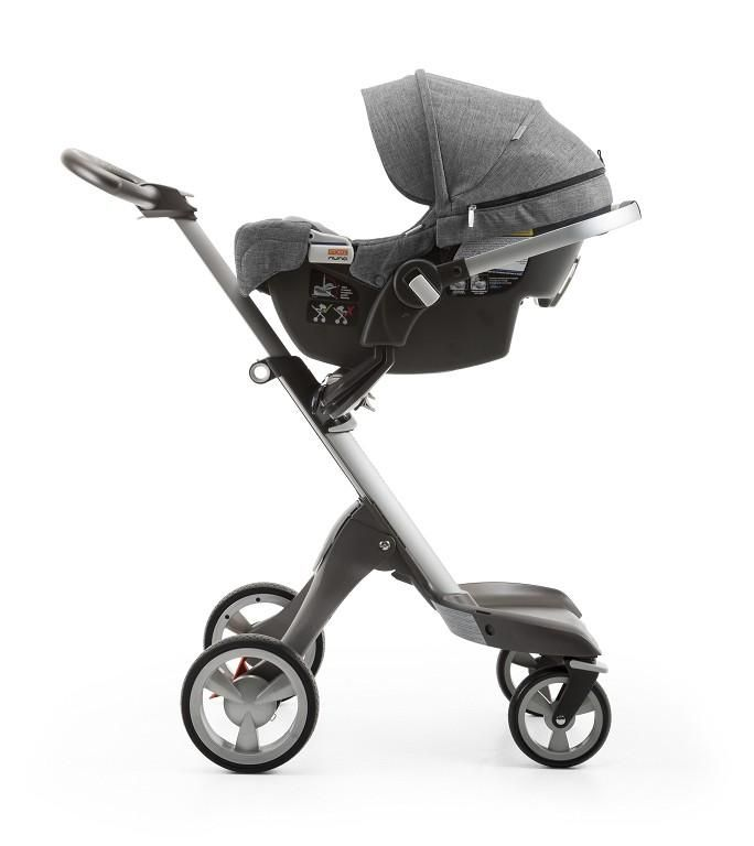 transforms into a travel system with all stokke strollers no adaptors needed all new stokke. Black Bedroom Furniture Sets. Home Design Ideas