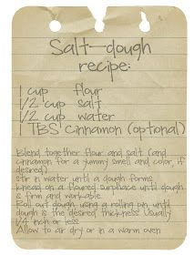 Momma Hen's Frugal Life: old fashioned Salt-Dough ornament recipe and a GIVEAWAY