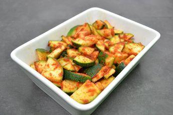 Zucchinigemüse aus dem Dampfgarer