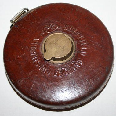 Vintage Leather Case Tape Measure By James Chesterman