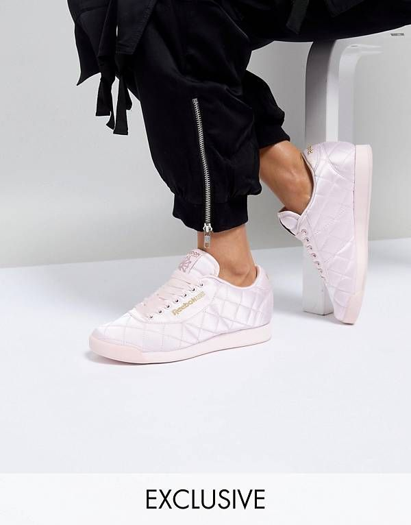0ecf83a8a8e38 ASOS WHITE x Reebok Princess Trainers in Quilted Satin