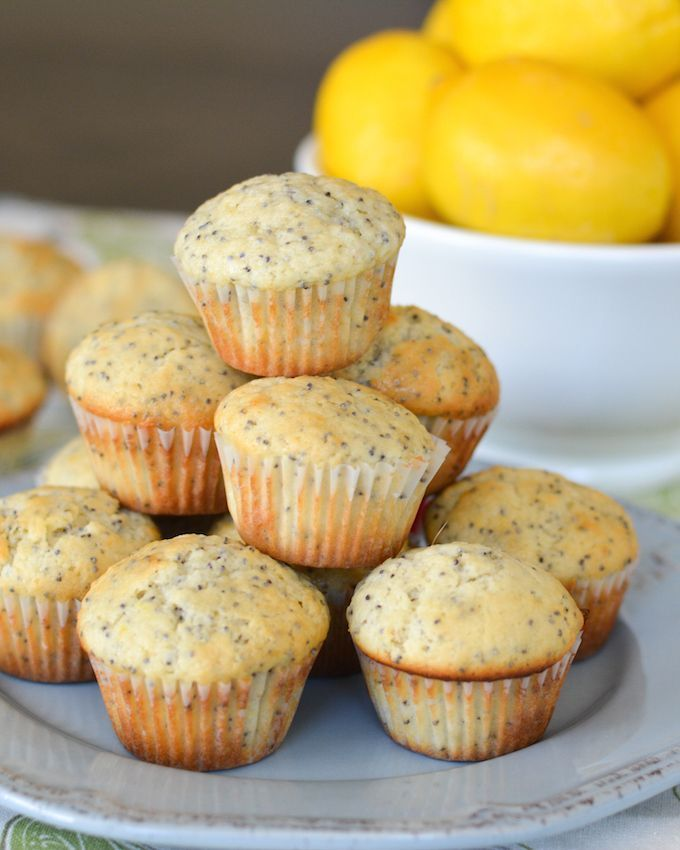 These Lemon Poppy Seed Mini Muffins add a fresh burst of brightness to your breakfast or brunch!