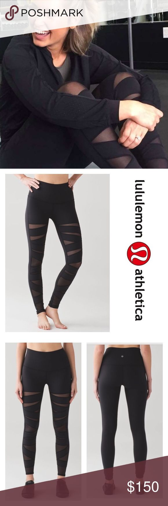 Lululemon Wunder Under Pant Hi-Rise SE Mesh Black They're back! This special edition of your favourite Wunder Under Pant has Mesh fabric panels for ventilation. A tight-knit version of our Luon® fabric, sweat-wicking Full-On® Luon is four-way stretch with a cottony-soft feel incredible support and coverage designed for yoga Added Lycra® fibre for stretch and shape retention high-rise Keeps you feeling covered and secure hugged sensation Engineered to feel like a comfortable embrace…