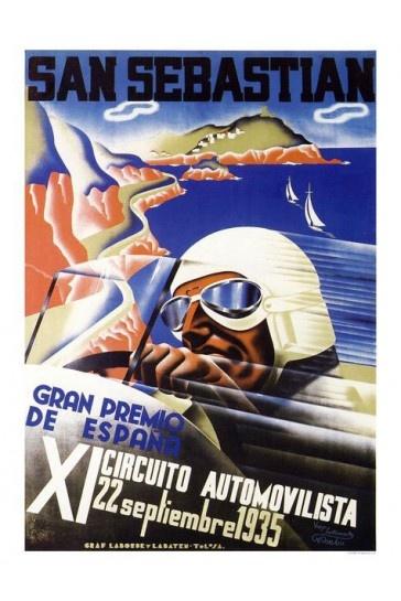 San Sebastian Grand Prix Racing Print - Vintage Motor Sport Posters - Retro Posters iPosters £7.99