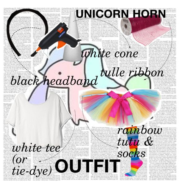 DIY Unicorn Costume by fashion-in-the-heart on Polyvore