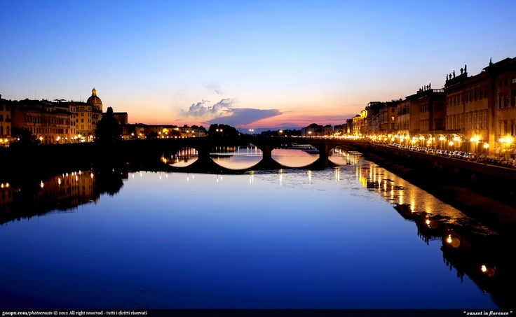 Sunset in Florence!