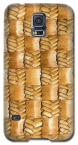 Flax Galaxy S5 Case featuring the photograph Weaving Flax - Gold by Wairua o te Moana