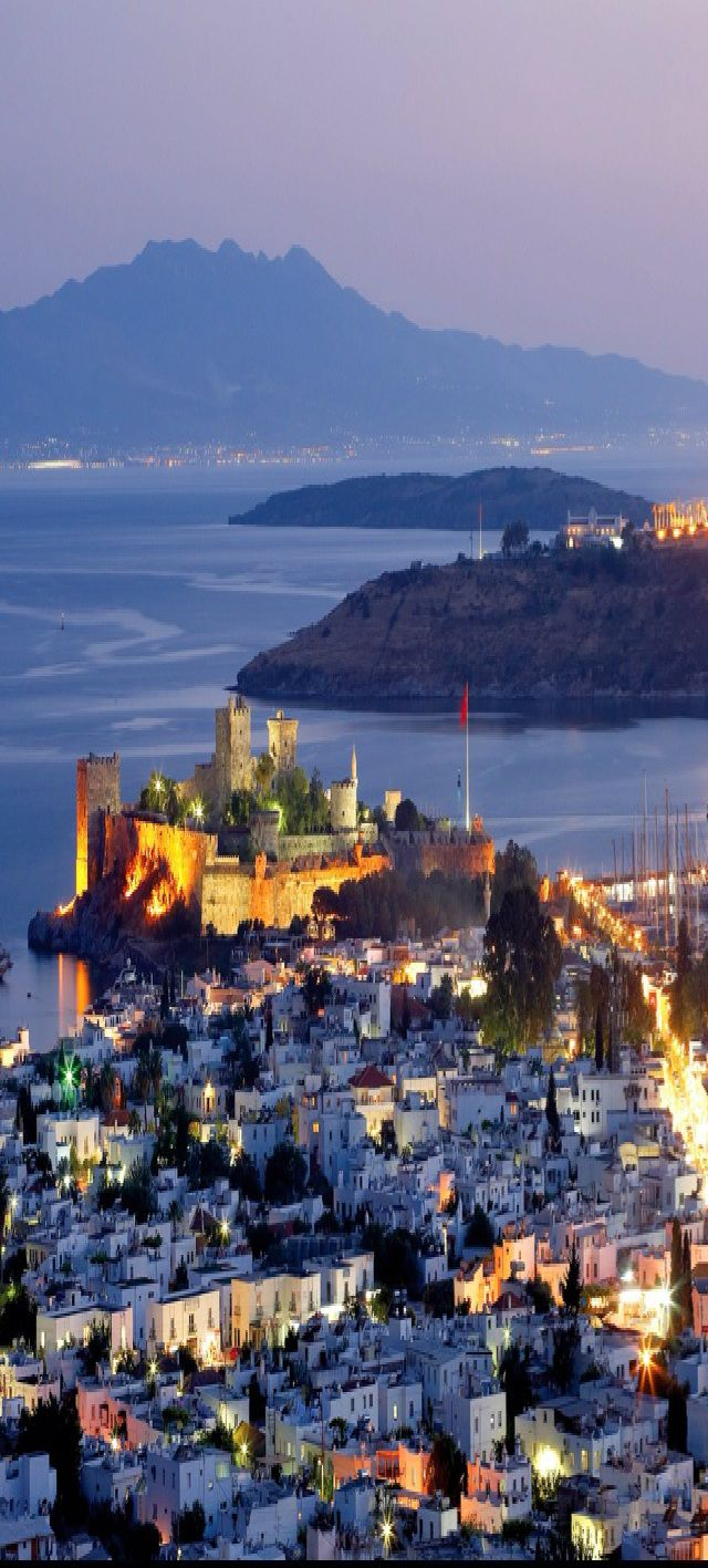 Bodrum, Turkey | Come Seek St. Peter's Castle, a medieval fortress built partly with stones from the Mausoleum, and one of the Seven Wonders of the Ancient World.