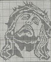 Schemi punto croce Varie immagini raffiguranti Gesù | Hobby lavori femminili - ricamo - uncinetto - maglia