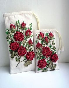 images of ribbon embroidery designs - Google Search