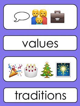 Emoji Word Wall Words (Social Studies) {#2017dollardeals}