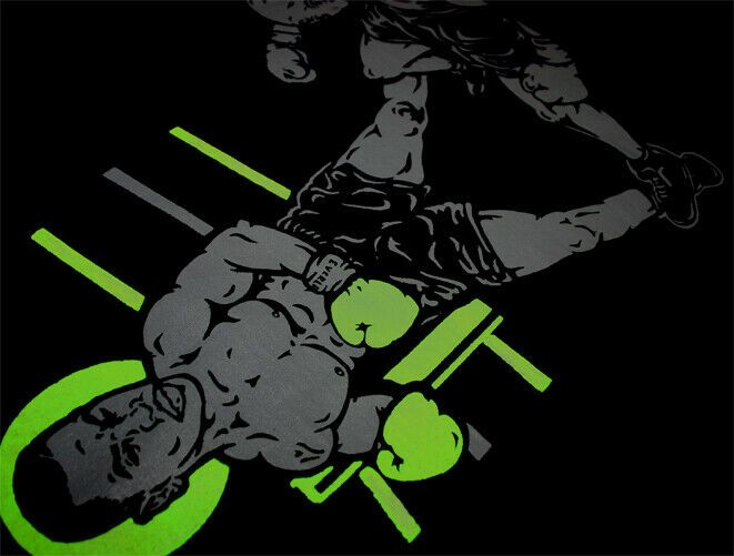 New Black Grey Neon Tyson Boxing Ring Shirt For Air Max 95 Neon