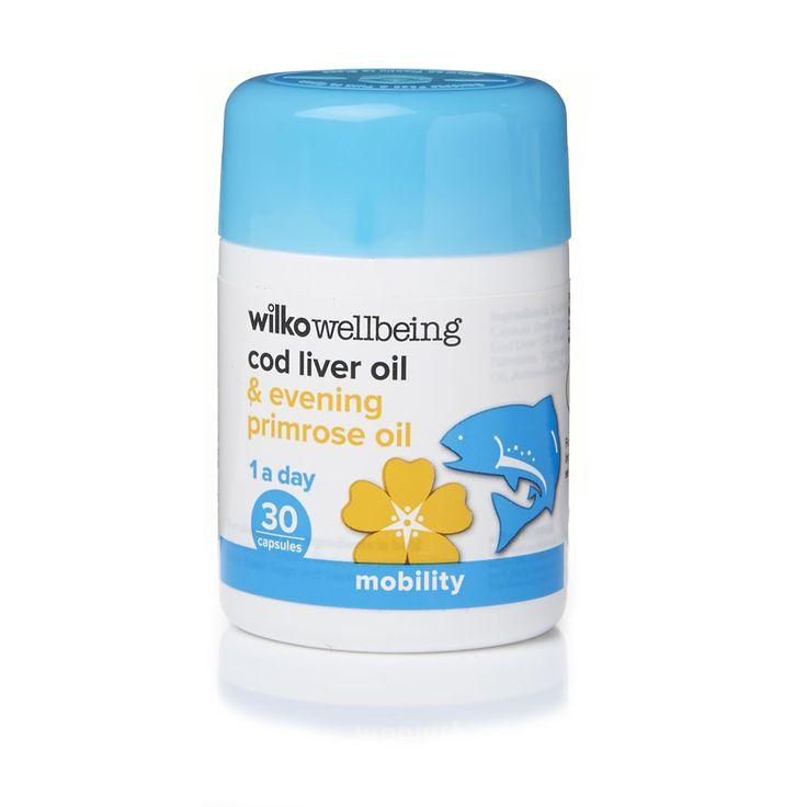 Wilko Evening Primrose and Cod Liver Oil 30pk
