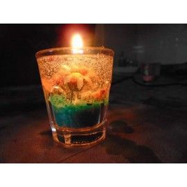 Handmade gel candle with sunflower and rose fragrance
