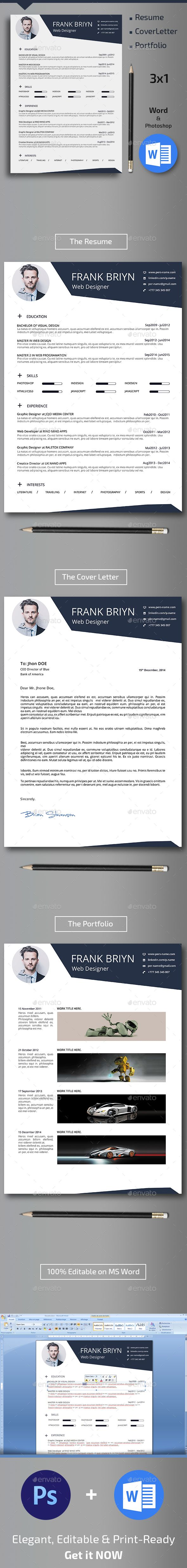 Resume Template PSD design Download httpgraphicrivernetitem 435