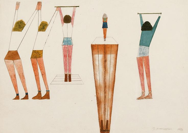 Jerzy Nowosielski | Gymnasts, 1950