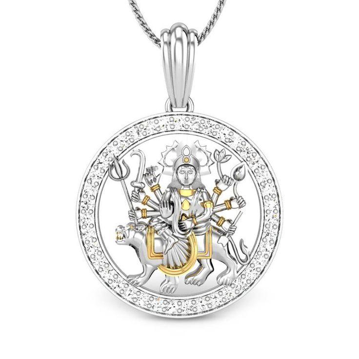 Ambe Maa Diamond Pendant