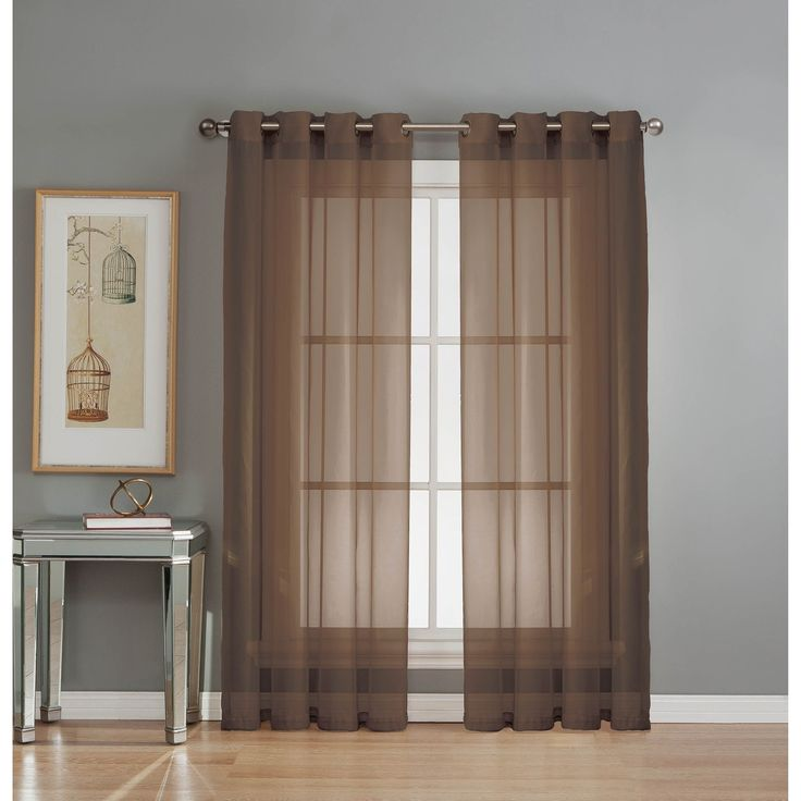 Window Elements Sheer Voile Grommet Extra Wide 84-inch Curtain Panel -