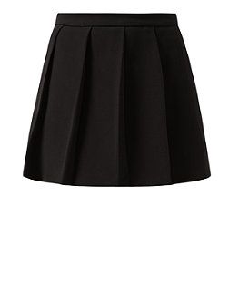 Black (Black) Black Pleat Front Wrap Skort  | 323993901 | New Look