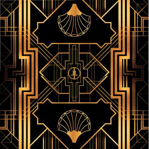 Great Gatsby Art Deco Backdrop For Photos Wall Decor Party Sign