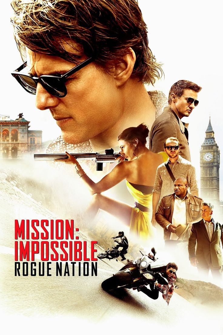 Mission: Impossible - Rogue Nation (2015) ... Ethan and team take on their most impossible mission yet, eradicating the Syndicate - an International rogue organization as highly skilled as they are, committed to destroying the IMF. (18-Feb-2016)