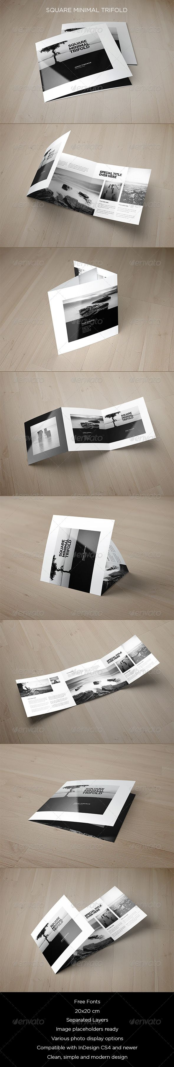 Square Minimal Trifold - Brochures Print Templates