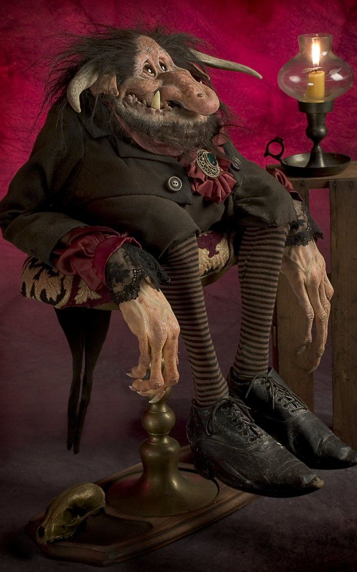 The Hobgoblin by Thomas Kuebler, life-sized character sculptures