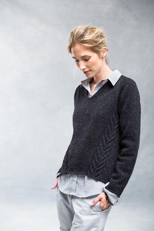 Вязание пуловера спицами с описанием. Вяжем модный осенний пуловер спицами |