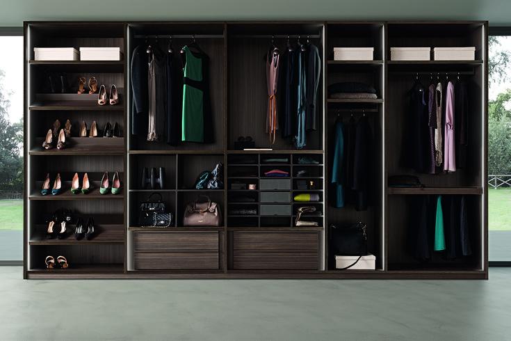 PRESOTTO | Tecnopolis free walk-in-closet  in tay melamine._ Cabina armadio Tecnopolis free in melaminico tay.