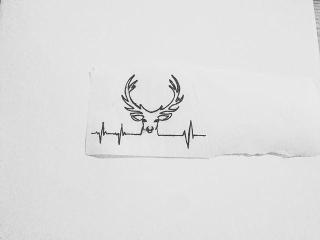 #tattoo #art #artist #tattooart #tattooartist #lifeline #deer #ekg #deertattoo #ekgtattoo #next #nexttattoo #comingsoon #adriennes_art_