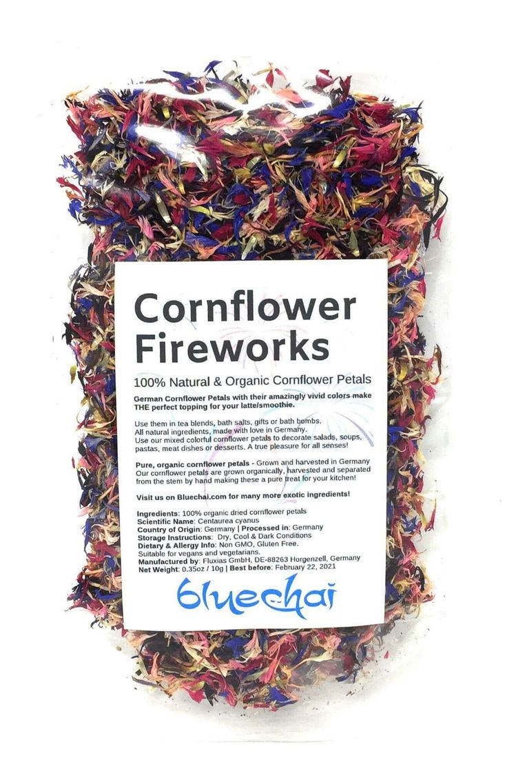 Colorful Cornflower Fireworks Petals (1) Tea blends