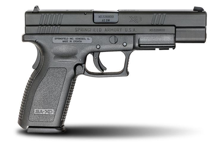 XD® 5″ Full Size Model .40SW caliber #pistol in Black from Springfield Armory® #firearm #handgun