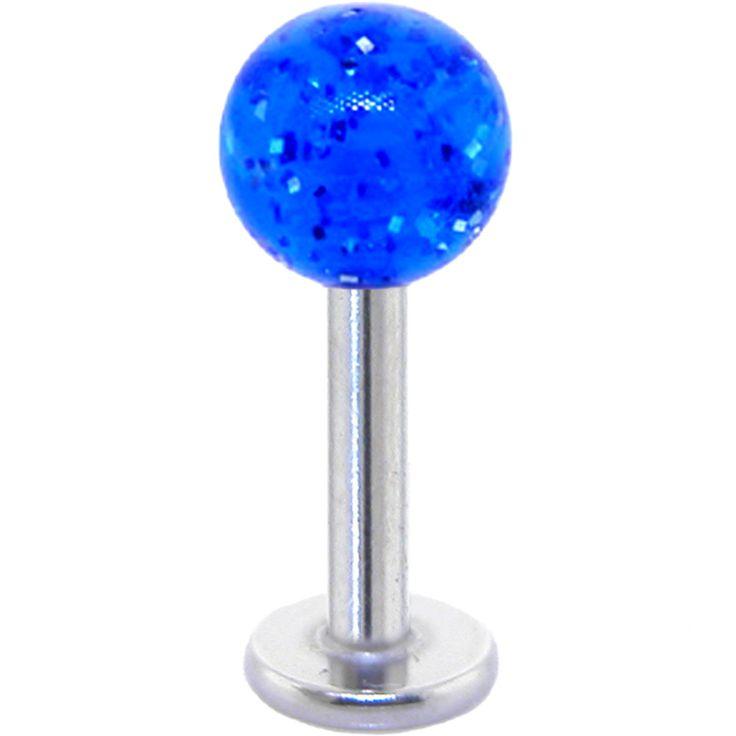 Marvelous Electric Blue GLITTER Labret