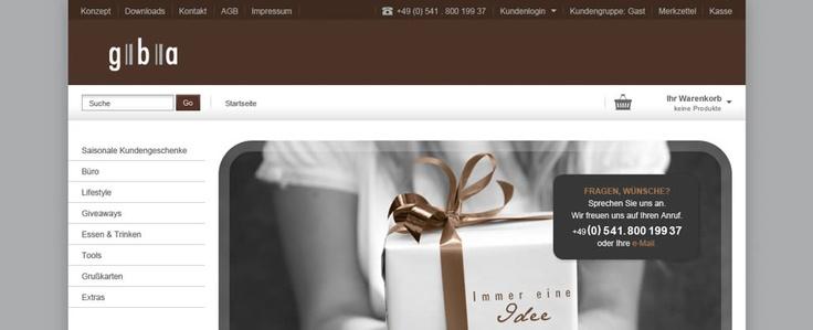 Webshop Relaunch - gba - www.gba-stoeter.de