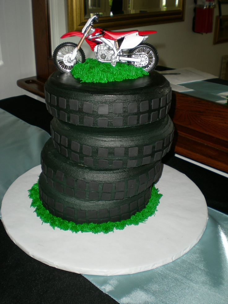 Motorcycle Tires Grooms Cake