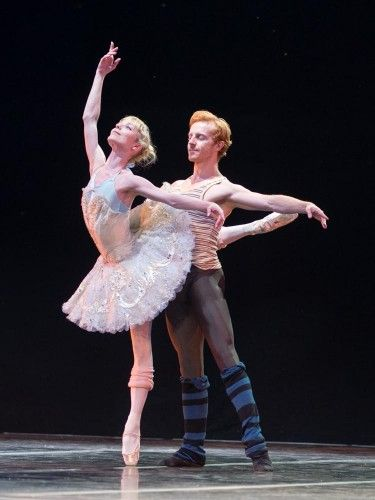 Sarah Lamb and Steven McRae rehearse Sleeping Beauty