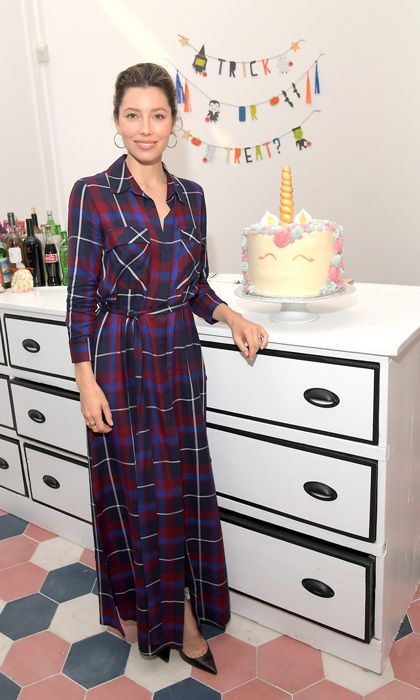 Jessica Biel looked lovely in plaid at the opening of Au Fudge CAMP in West Hollywood. During the party, she told Entertainment Tonight that she is biased but thinks her husband Justin Timberlake is the greatest performer of all time in lead up to his Super Bowl performance.