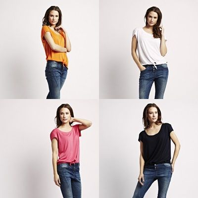 Stay casual with our new Tie T-Shirts in orange mandarin, opal white, hot pink & old navy! <3